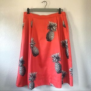 Ann Taylor Pineapple Midi Skirt